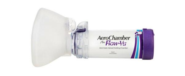 Produkt - AeroChamber Plus Flow-Vu z maską dla dorosłych i dzieci od 5 lat życia (Fioletowy)
