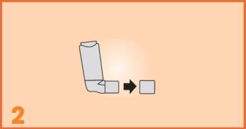 AeroChamber Plus Flow-Vu użycie dla dzieci - 2. krok