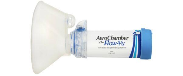 Produkt - AeroChamber Plus Flow-Vu z maską dla dorosłych (Niebieski)
