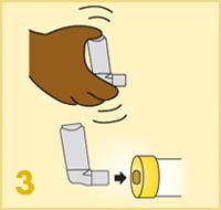 AeroChamber Plus Flow-Vu z maską dla dzieci instrukcja użytkowania - 3. krok