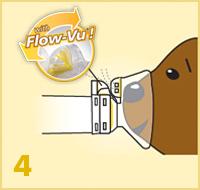 AeroChamber Plus Flow-Vu z maską dla dzieci instrukcja użytkowania - 4. krok