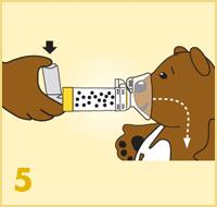AeroChamber Plus Flow-Vu z maską dla dzieci instrukcja użytkowania – 5. krok