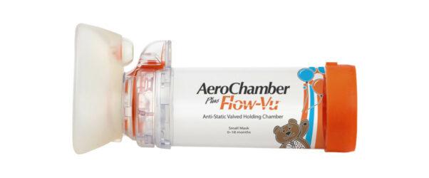 Produkt - AeroChamber Plus Flow-Vu z maską dla niemowląt (Pomarańczowy)