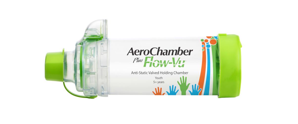 Produkt - AeroChamber Plus Flow-Vu z ustnikiem - KIDZ - (Zielony)