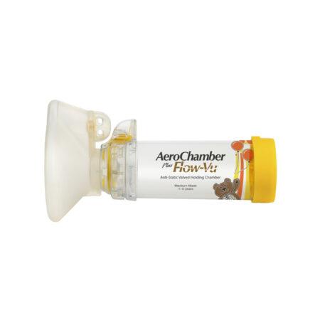 Produkt - AeroChamber Plus Flow-Vu z maską dla dzieci (Żółty)